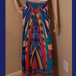 Tribal Print Maxi Skirt/Halter Dress